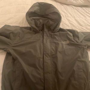 Men's gray North Face Rain Jacket